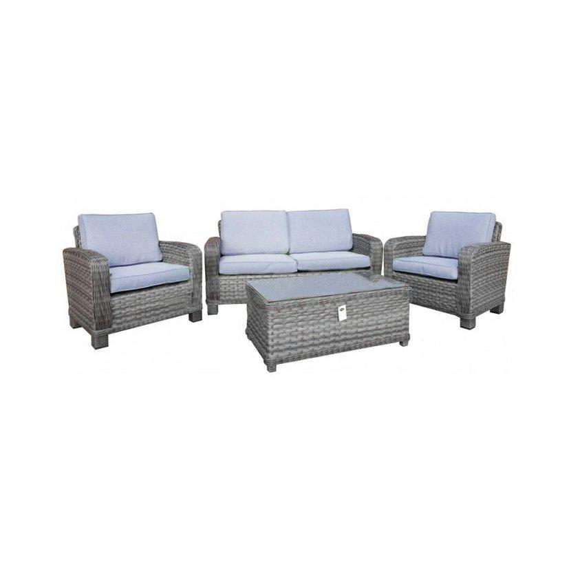 Ratanový zahradní nábytek set stůl lavice